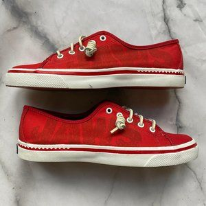 """Ladies Sperry """"JAWS"""" Red Dock Shoes Size 8.5"""